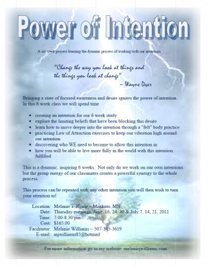 Power of Intention – 6 Weeks