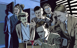 The Illustration Game: Alan Turing depicted decoding Nazi messages ...