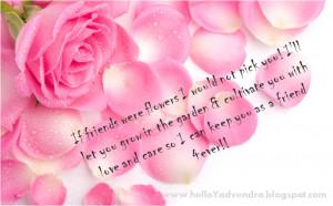If Friends Were Flowers....