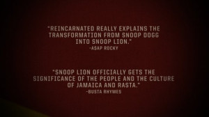 Snoop Reincarnated Trailer Cards (ASAP Rocky & Busta Rhymes Quotes)