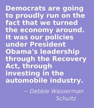 Debbie Wasserman Schultz car quote @Pinstamatic