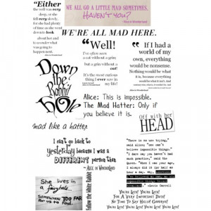Alice in wonderland quotes - Polyvore