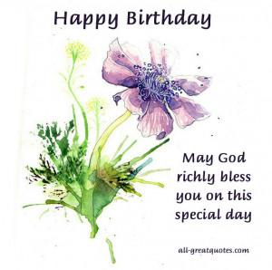 God Bless Happy Birthday Quotes Quotesgram