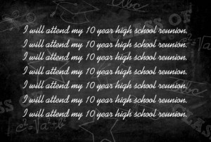 Chalkboard High School Reunion Invitation by PurpleTrail.com.