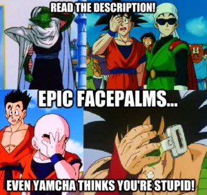DBZ Epic Facepalm by DBZ-Forever