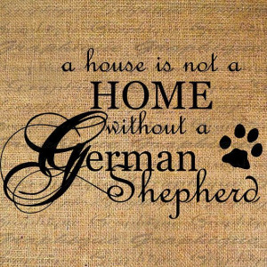 HOME wo GERMAN SHEPHERD Dog Text Word Calligraphy Digital Image ...