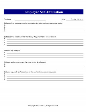 Pictures of New Employee Evaluation Comments Phrases Free