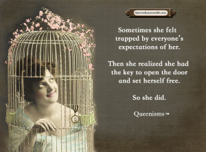 Sometimes she felt trapped by everyone's expectations of her. Then she ...