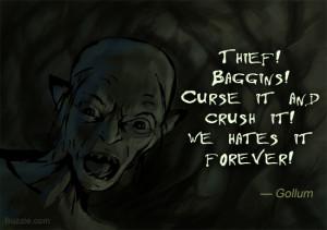 Gollum The Hobbit Book Quotes