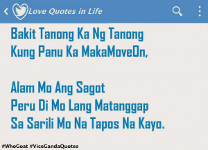 Vice Ganda Hugot Quotes on How to Move On