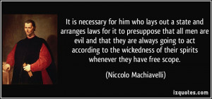 Machiavelli Quotes On Evil Clinic