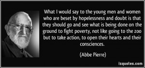 More Abbe Pierre Quotes