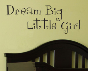 Big Little Girl wall stickers living room decoration wallpaper quote ...
