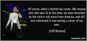 More Cliff Richard Quotes