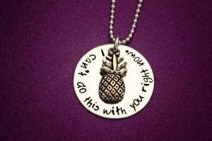 ... Stainless Steel with Pineapple Charm - Shawn and Gus Quotes - Geeker
