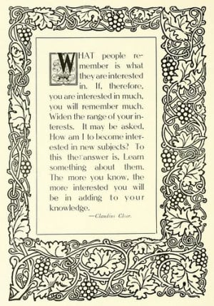 Knowledge: Quote by Claudius Clear (1915)
