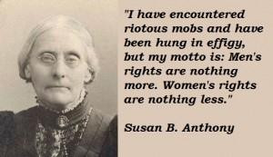 Susan B. Anthony quotations, sayings. Famous quotes of Susan B ...