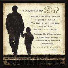 ... in heaven prayer | Christian Gifts for Men / Religious Gifts for Dads