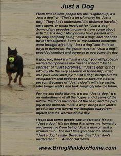 Dog poem More
