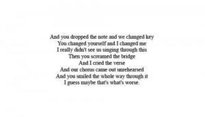 song lyric quotes – lyrics mayday parade quotations quotes text ...