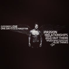 The Hero Zyzz. His most motivational quote. #zyzz #father #aesthetics ...