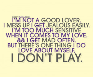 Not a Good Lover ~ Emotion Quote