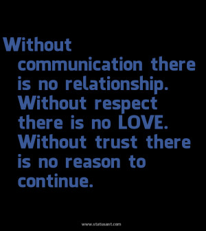 There Is No Relationship. Without Respect There Is No Love ...
