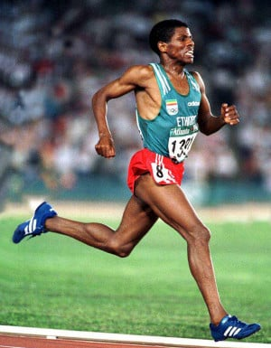 Haile Gebrselassie, possibly the greatest distance runner of all time