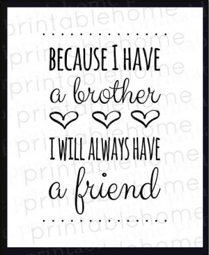 Brothers Quote INSTANT download Nursery brother by PrintableHome 5
