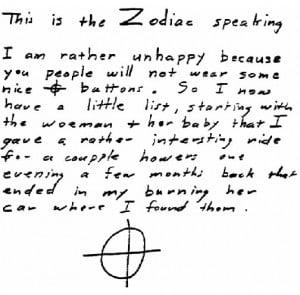 Below is a text we got from www.zodiackiller.com