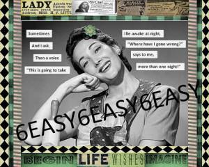 Original collage Humor Mature Sarcastic quote Work of Canvas Art Retro ...