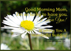 good morning mom i m so lucky to have you i love you mom wishing you a ...