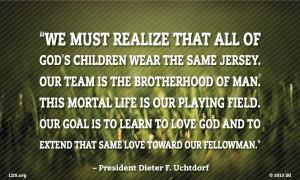 Love toward Our Fellowman