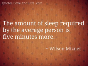 Funny Quotes - Sleep