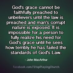 John MacArthur ...People need to understand they have need of our ...