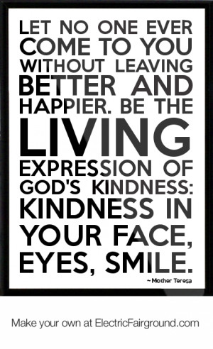 Kindness Quotes Mother Teresa Mother teresa framed quote