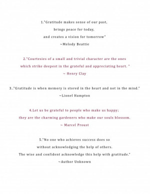 ... Quotes Expressing Gratitude - A great way to show your appreciation