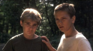 Corey Feldman as Teddy (here with River Pheonix) in STAND BY ME. stand ...