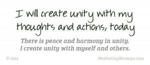 How to create peace and harmony