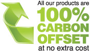 Did you know all our products are 100% Carbon Offset?