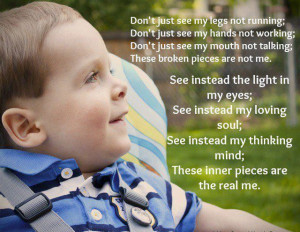 BEAUTIFUL statements on children with disabilities