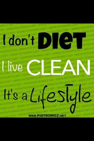 Eat clean be clean