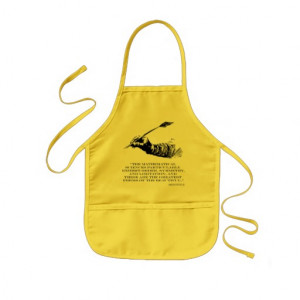 Aristotle Quote - Beauty of Math Quotes Sayings Kids Apron