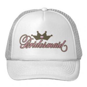 Bridesmaid Pink and brown Tiara hat