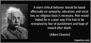 man's ethical behavior should be based effectually on sympathy ...