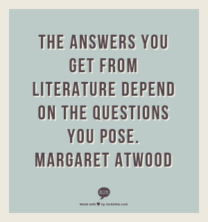 life and margaret atwood essay The best articles about life and best essay about life -- great articles on life and essay on life 30 great articles & essays about life attitude by margaret atwood you may not be able to alter reality, but you can alter your attitude towards it, and this, paradoxically.