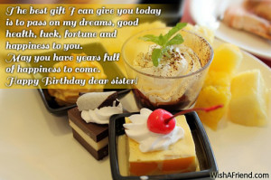 the best wishes on my sister happy birthday wish happy birthday sister ...