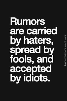 Well said well said ! I knew you bad mouthing & gossiping behind me ...