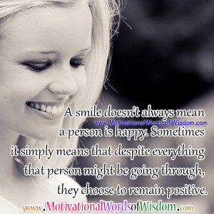 Back > Quotes For > Inspirational Quotes About Happiness And Smiling ...