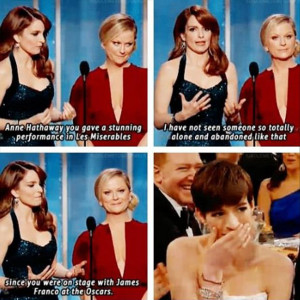 Anne hathaway, james franco, oscars, funny quotes